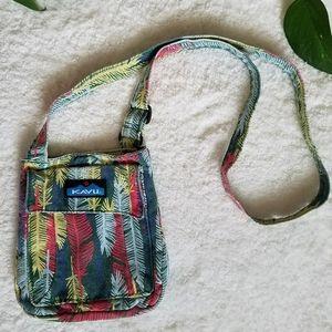 Kavu Mini Keeper Feather Print Crossbody Bag